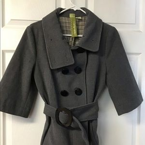 Women's Soia & Kyo Collared Button Belted Jacket